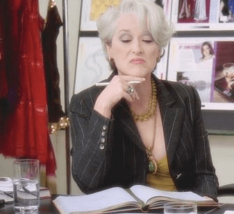 Miranda Priestly as the Devil Wears Prada